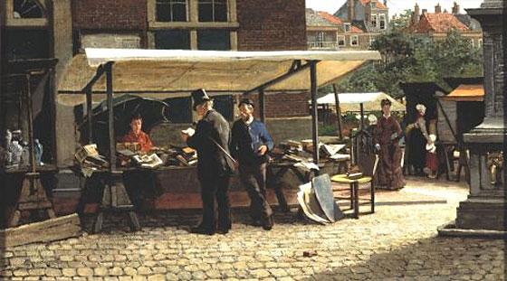 schilderij-Mesmer-Boekenstal