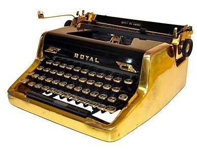 typewriter-gold